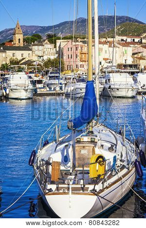 pictorial port in Saint Florent in Corsica