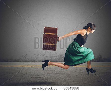 Women runs