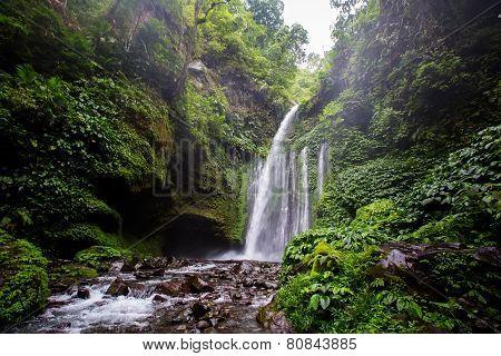 Waterfall Near Rinjani, Senaru, Lombok, Indonesia, Southeast Asia