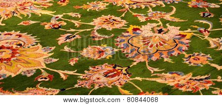 The Carpet In Sheikh Zayed Mosque Carpet. Abu Dhabi, United Arab Emirates