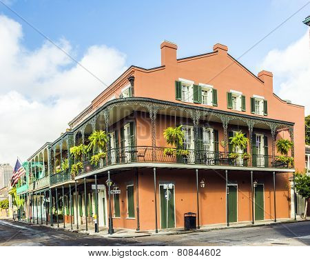 Historic Building In The French Quarter