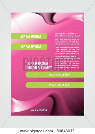 Cosmetic flyer brochure