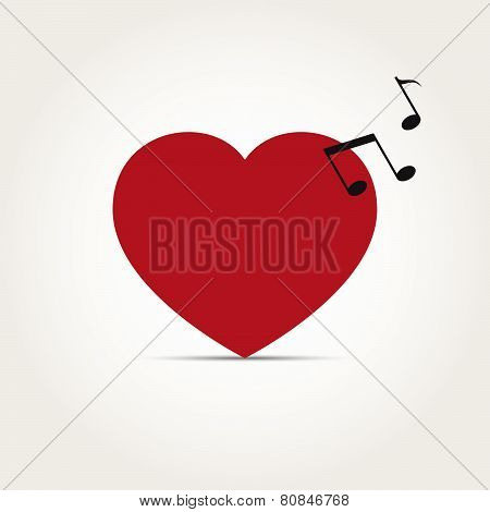 Vector Love Heart Music Rhythm