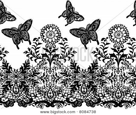 butterfly and plant background pattern