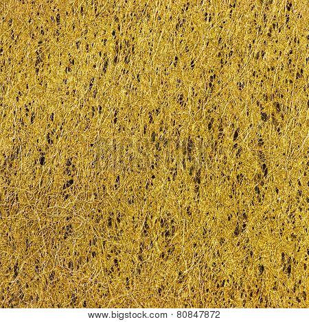 Yellow Fiber Texture Background