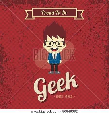 cartoon geek character