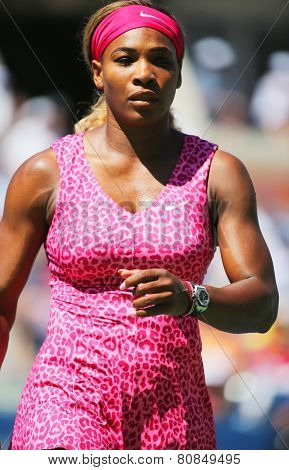 Grand Slam champion Serena Williams during round 2 match at US Open 2014