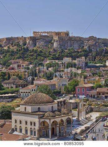 Acropolis and Plaka, Athens Greece