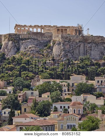 Athens acropolis and Plaka hdr