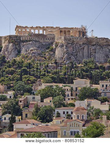 Athens acropolis and Plaka hdr