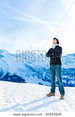 Handsome guy in the Alps.
