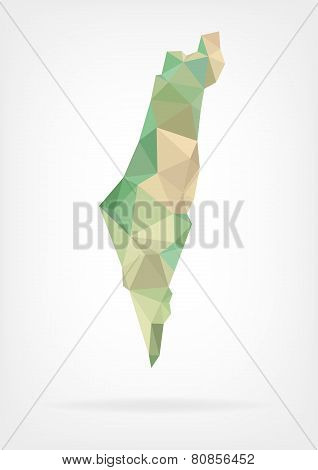Low Poly map of Israel