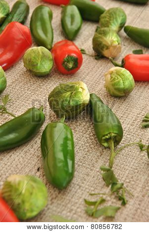 Red Pepper With Green Pepper