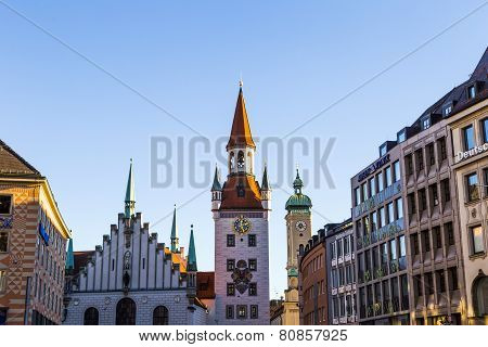 The Old Town Hall Architecture In Munich