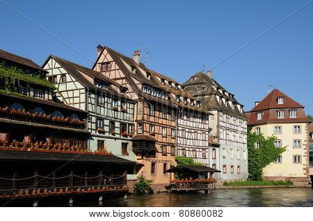 Old House In The District Of La Petite France In Strasbourg