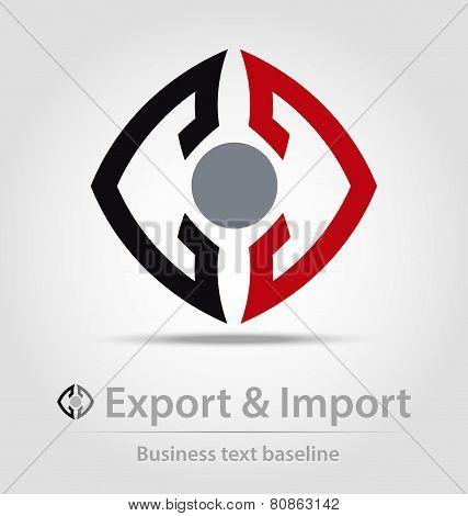 Export And Import Business Icon