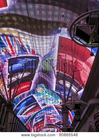 Neon Lights In Fremont Street, Las Vegas