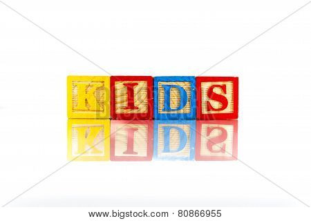 Alphabet Blocks Spelling The Word Kids