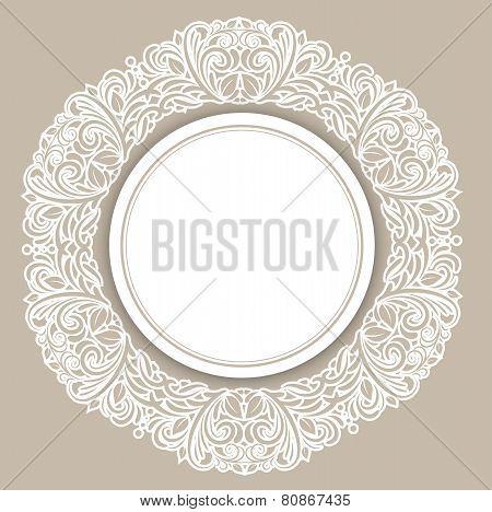 Round Frame Over Floral