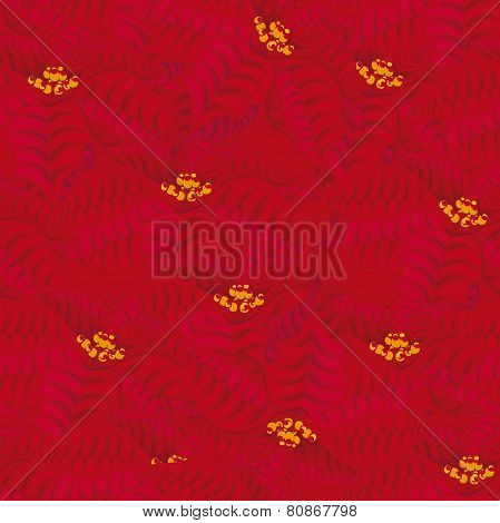 Seamless red background. poinsettia flowers.