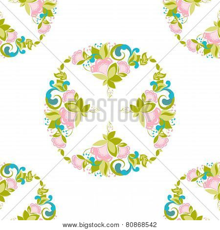Floral geomatric pattern