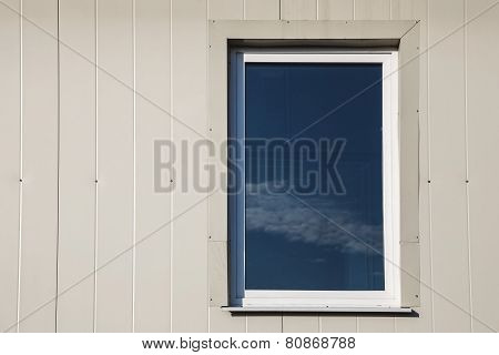 Window In Plastic Siding Wall