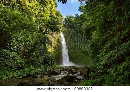 Nung nung waterfall in Bali Indonesia