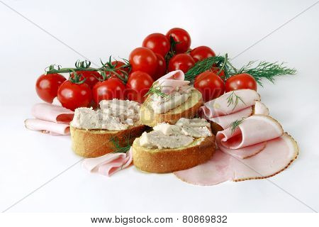 White Bread With Pate´.