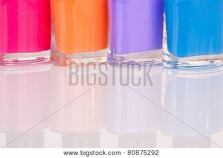 Four Multi-colored Nail Polish
