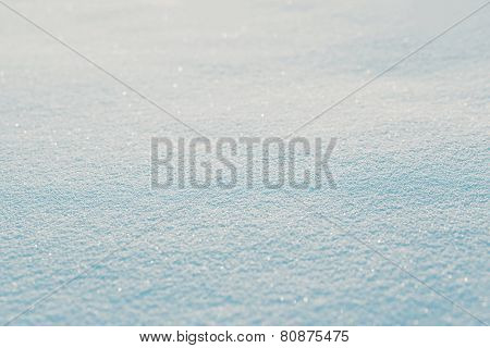 Snow Texture Background In Sunny Winter Day