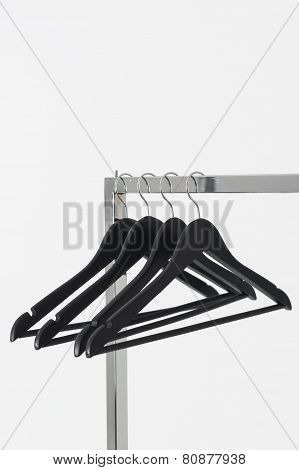 Coat Hangers On A Clothing Rail