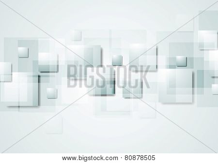 Abstract grey hi-tech background with squares. Vector design