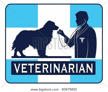Veterinary With Dog Graphic