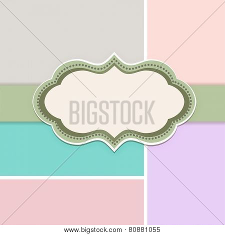 Pretty Decal with Copyspace and multicolored background