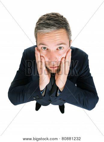 Portrait Of Worried Businessman