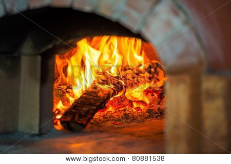 Fire In Brick Oven