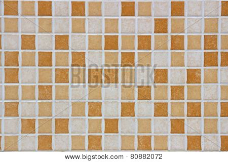 Ceramic brown and white cubes