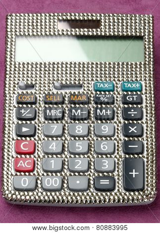 Calculator Covered With Swarovski Crystals