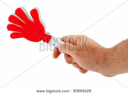 Toy In The Shape Of Hand To Make Noise