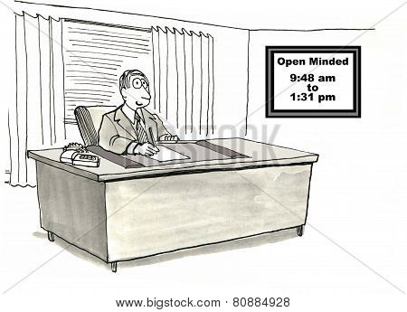 Open Minded Businessman