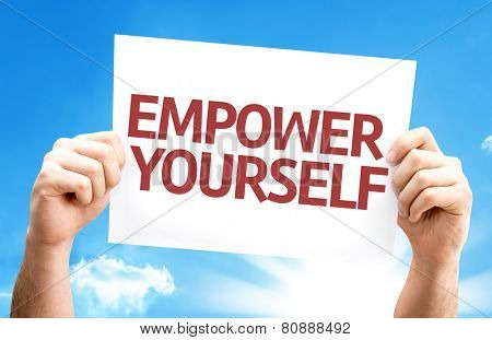 Empower Yourself card with a beautiful day