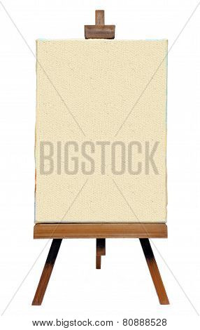 Old Easel With Canvas