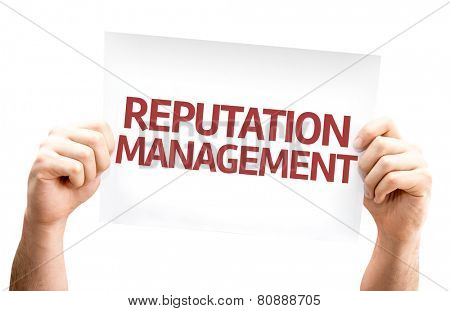 Reputation Management card isolated on white background