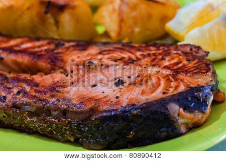 Grilled Salmon Fish Meat