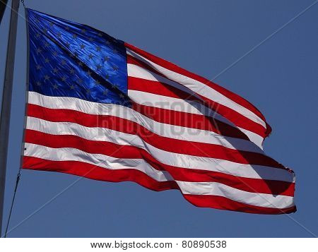 American Flag With Blue Stars
