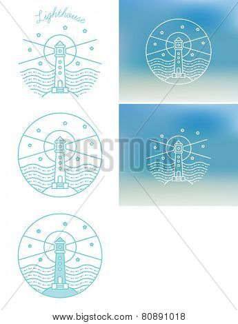 vector logo illustration of a lighthouse