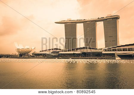 Singapore,december 20,2013:the Marina Bay Sands Resort Hotel