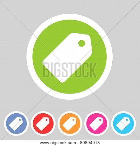 Price tag flat icon label