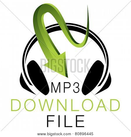 An image of an MP3 music download icon.