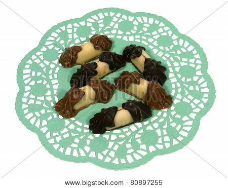 An isolated paper lace with bonbons